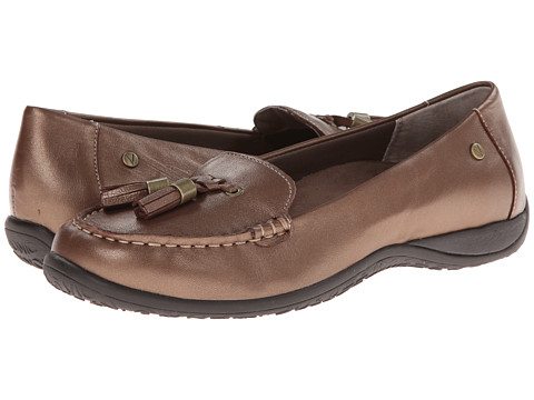 VIONIC with Orthaheel Technology - Abbie Flat Loafer (Bronze Metallic) Women's Slip on Shoes
