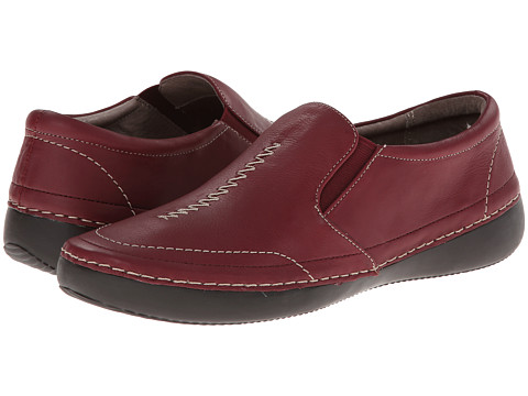 VIONIC with Orthaheel Technology - Addison Twin Gore Slip On (Merlot) Women