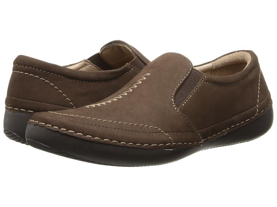 VIONIC - Addison Twin Gore Slip On (Dark Brown) Women's Slip on Shoes