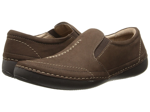 VIONIC - Addison Twin Gore Slip On (Dark Brown) Women's Slip on Shoes