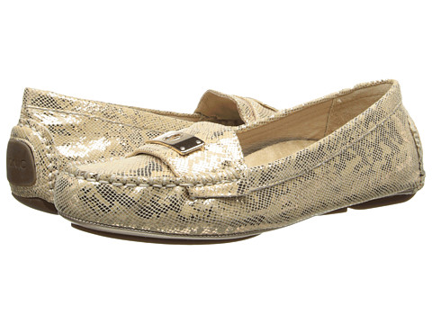 VIONIC with Orthaheel Technology - Sydney Flat Driver (Gold Snake) Women's Flat Shoes