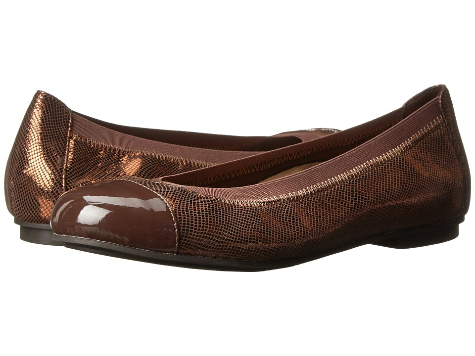 VIONIC - Allora Ballet Flat (Bronze Lizard) Women's Flat Shoes