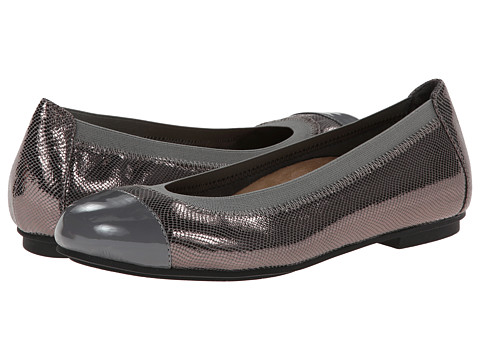VIONIC with Orthaheel Technology - Allora Ballet Flat (Pewter Lizard) Women