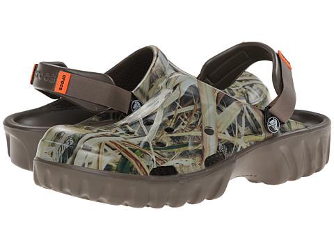 Crocs - Off Road Mossy Oak SGB Clog (Chocolate/Orange) Men's Clog Shoes
