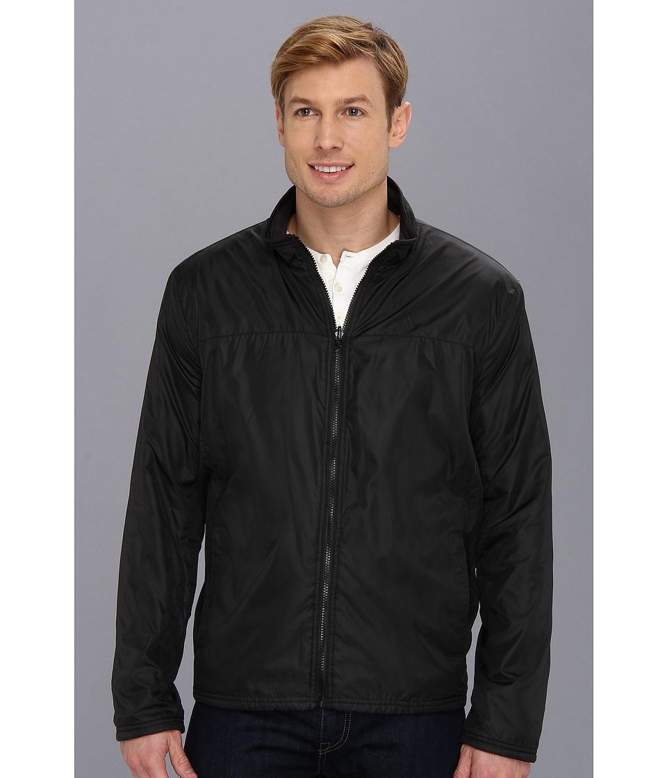 Kenneth Cole Reaction - Reversible Fleece Jacket (Black/Charcoal) Men