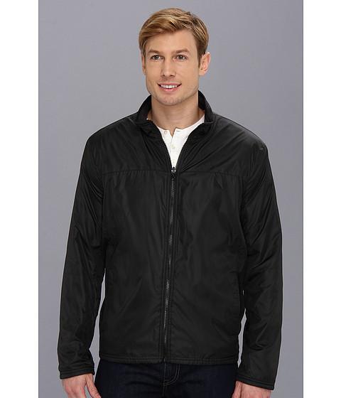 Kenneth Cole Reaction - Reversible Fleece Jacket (Black/Charcoal) Men's Coat