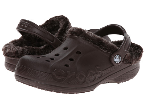 Crocs - Baya Heathered Lined Clog (Mahogany/Mahogany) Clog Shoes