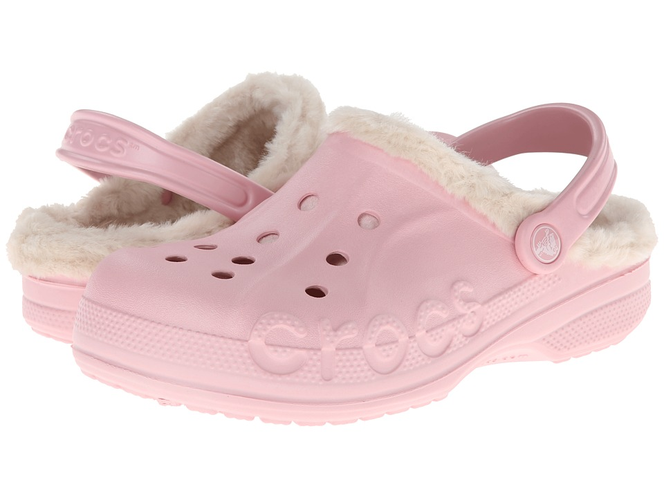 Crocs - Baya Heathered Lined Clog (Pearl Pink/Stucco) Clog Shoes