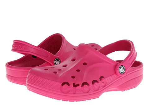 Crocs - Baya (Unisex) (Candy Pink) Slip on Shoes