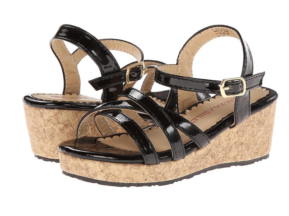 Laura Ashley Kids - LA31149 (Toddler/Little Kid) (Black Patent) Girls Shoes