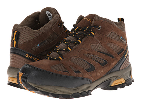 Hi-Tec - Fusion Sport Mid WP (Brown/Black/Orange) Men's Shoes
