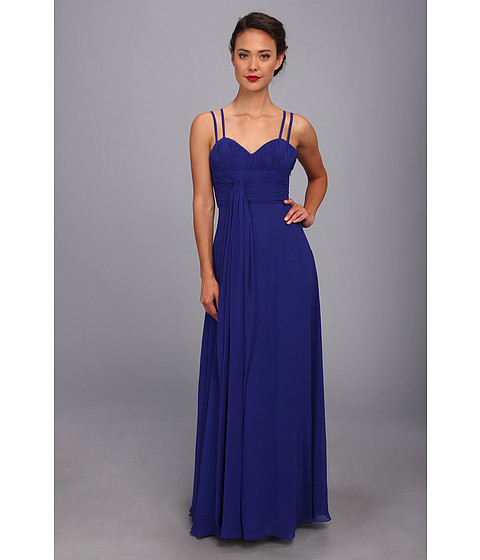 Unique Vintage - Long Chiffon Prom Dress (Royal) Women's Dress
