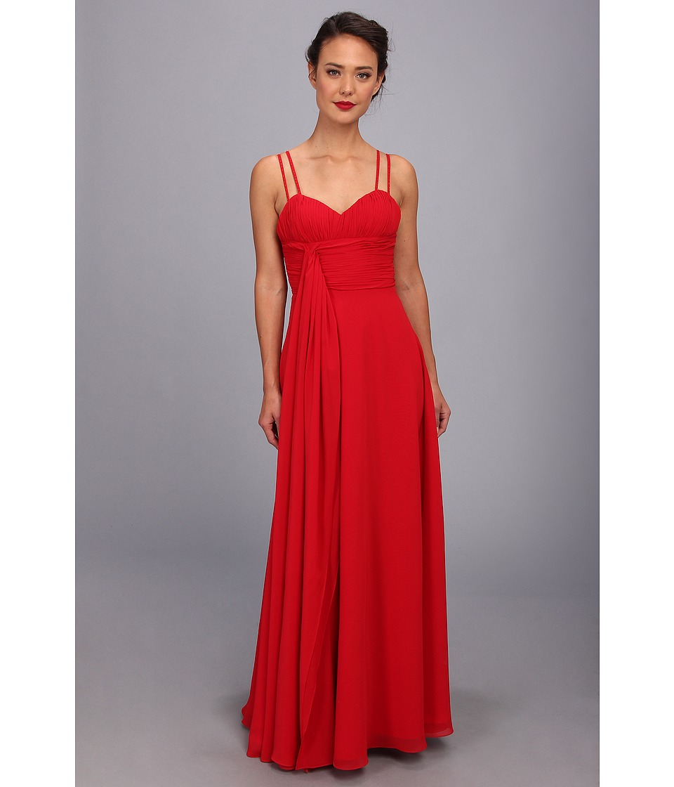 Unique Vintage - Long Chiffon Prom Dress (Red) Women's Dress