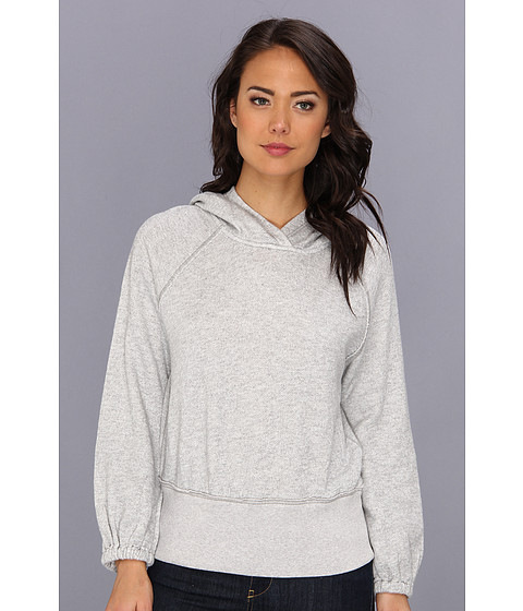 Free People - Lone Ranger Banded Bottom Heavyweight (Grey Heather) Women's Long Sleeve Pullover