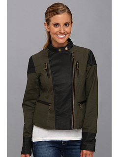 SALE! $29.99 - Save $45 on dollhouse Motorcycle Jacket w Cotton Twil L PU Trim (Olive) Apparel - 60.01% OFF $75.00