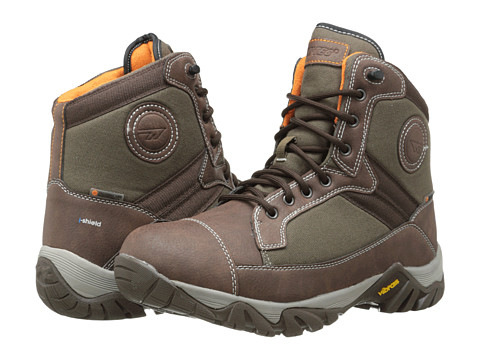 Hi-Tec - Trooper Mid 200 I WP (Chocolate/Taupe/Burnt Orange) Men's Shoes