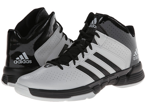 adidas - Cross 'Em 3 (Black/Clear Grey) Men's Basketball Shoes