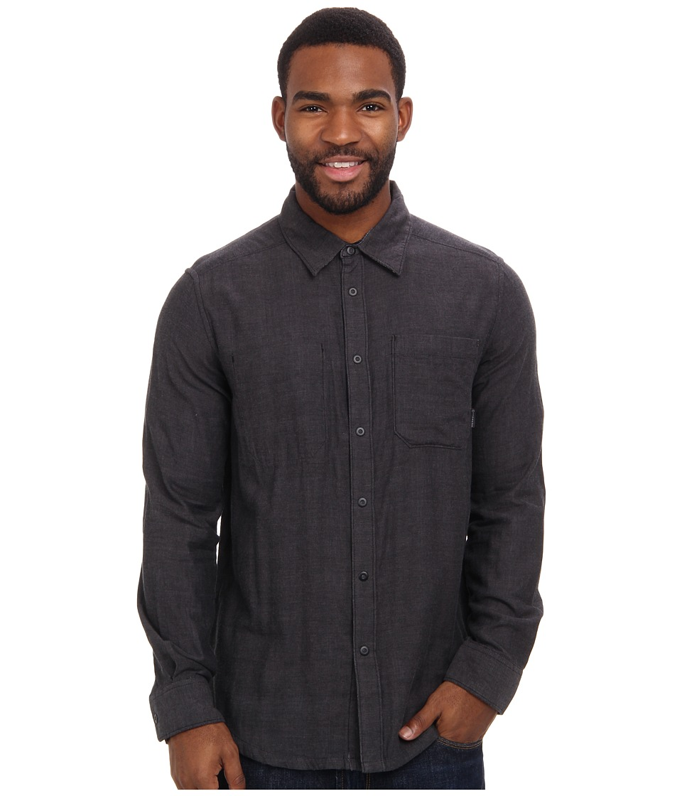 Merrell - Highgate Reversible (Black) Men's Long Sleeve Button Up