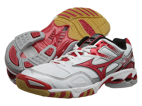 Mizuno - Wave Bolt 3 (White/Red) Women's Volleyball Shoes