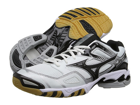 Mizuno - Wave Bolt 3 (White/Black) Women's Volleyball Shoes