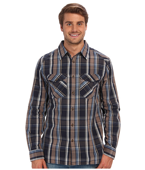 Merrell - Sawyer L/S (Ink) Men's Long Sleeve Button Up