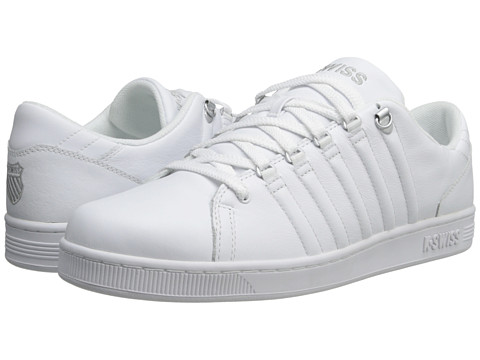 K-Swiss - Lozan III (White/White/Silver) Men's Tennis Shoes