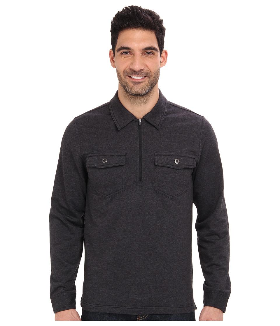 Royal Robbins - Sonora 1/2 Zip Shirt (Charcoal) Men's Long Sleeve Pullover