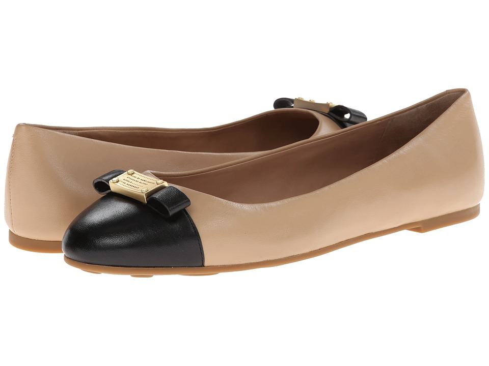 Marc by Marc Jacobs - Tuxedo Logo Plaque Ballerina (Nude/Black 1) Women's Slip on Shoes