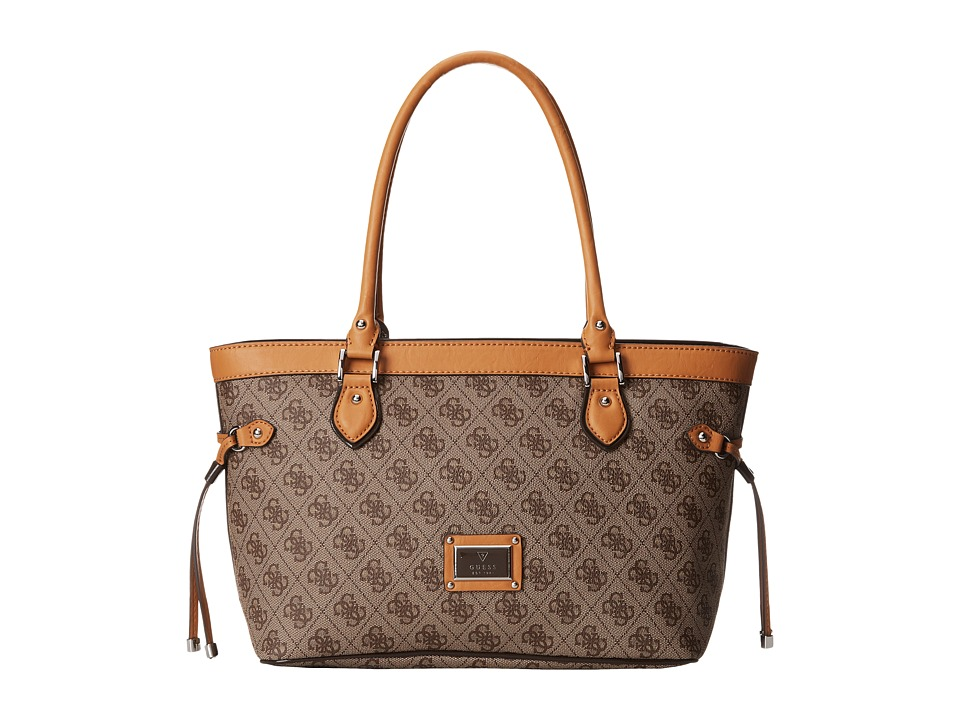 GUESS - Scandal Small Carryall (Brown) Tote Handbags