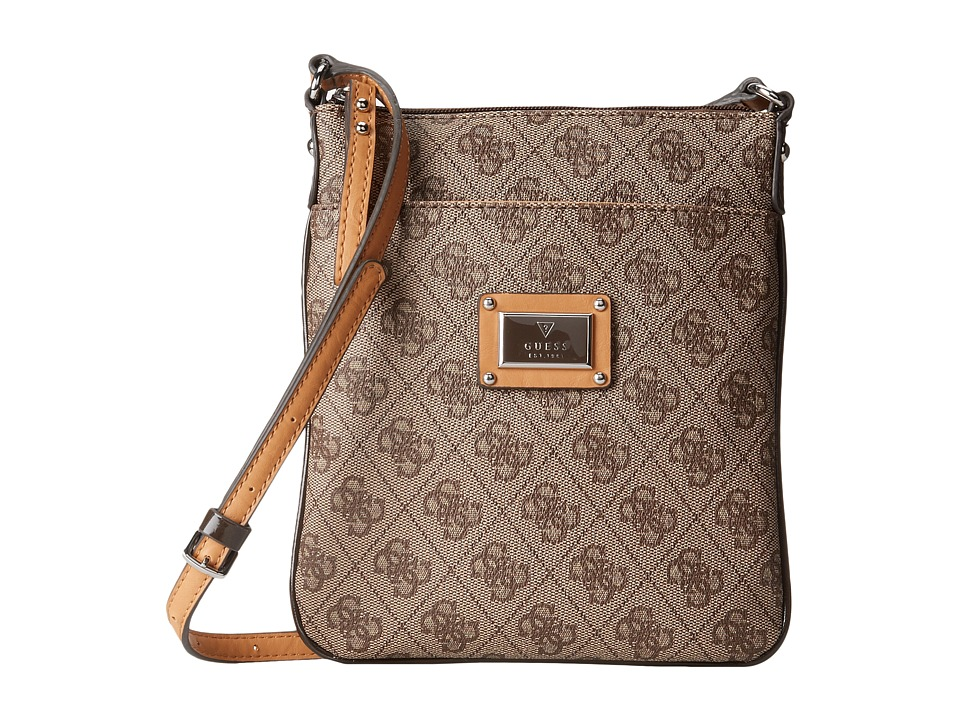 GUESS - Scandal Mini Crossbody (Brown) Cross Body Handbags