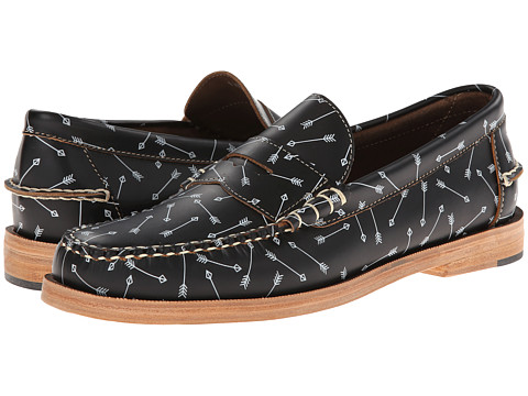 JD Fisk - Kato (Black/White Leather) Men's Slip on Shoes