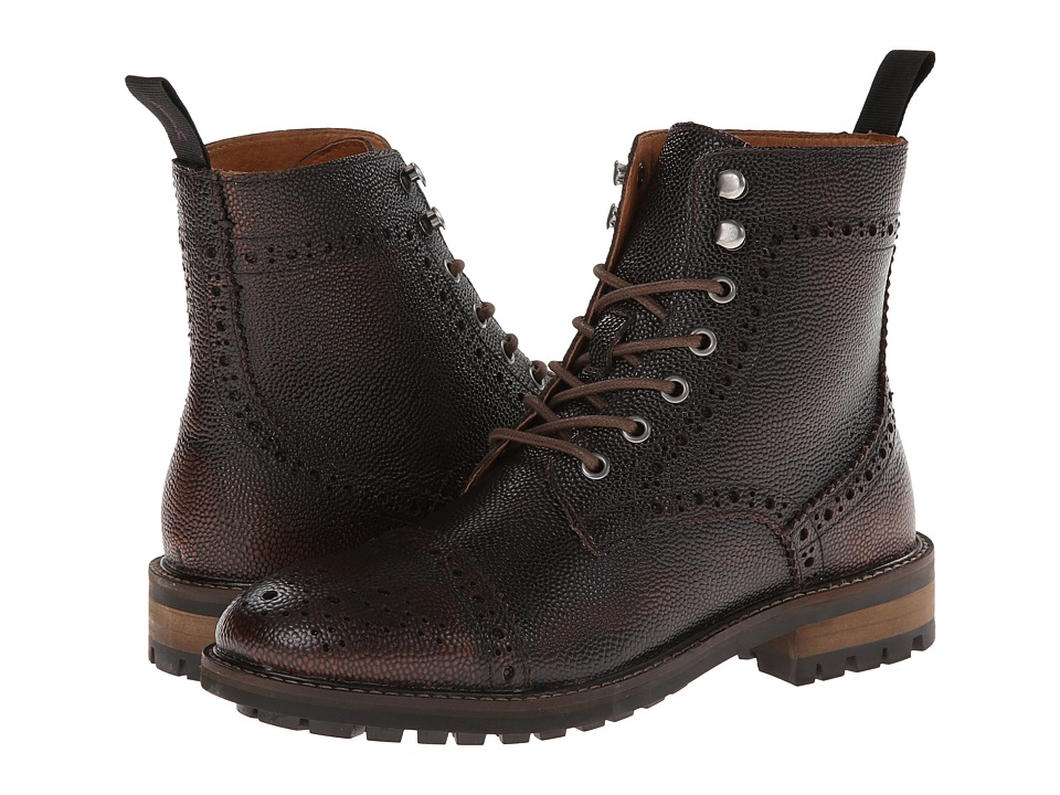 JD Fisk - Forest (Cognac Brushoff Leather) Men's Lace-up Boots