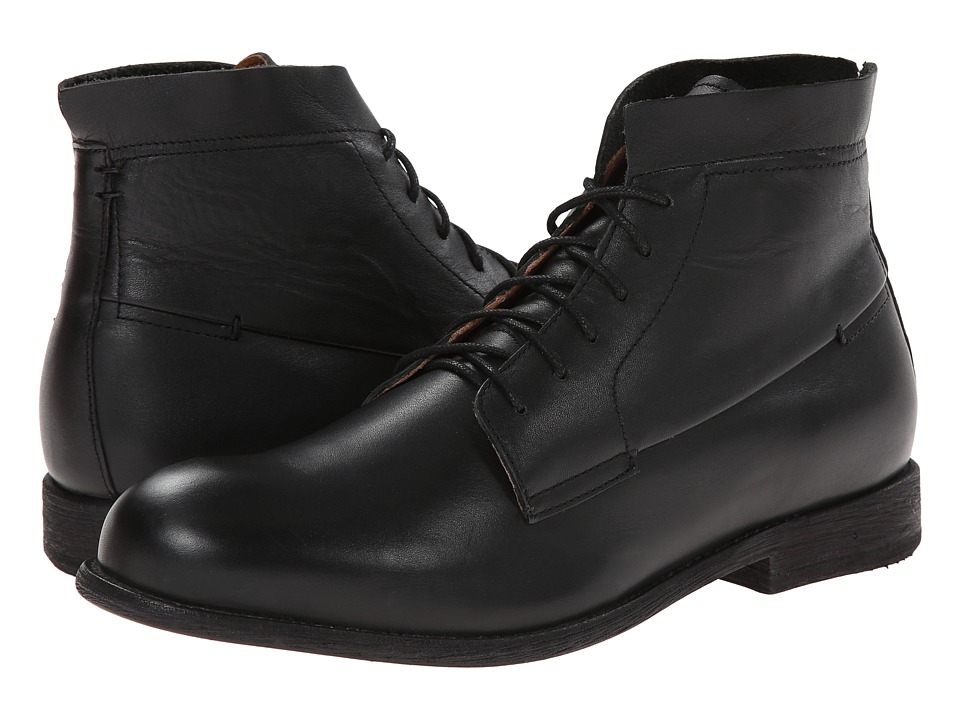 JD Fisk - Pike (Black Leather) Men's Pull-on Boots
