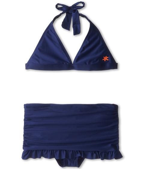 Splendid Littles - Flower Market Halter Skirted Pant (Big Kids) (Navy) Girl's Swimwear Sets