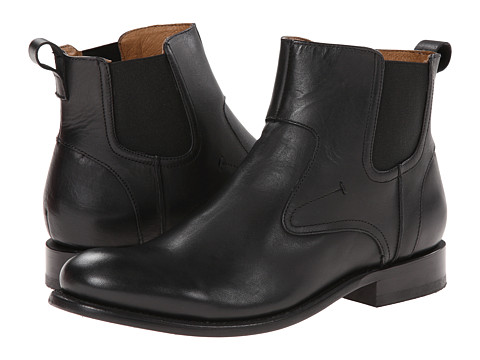 JD Fisk - Vance (Black Leather) Men's Pull-on Boots