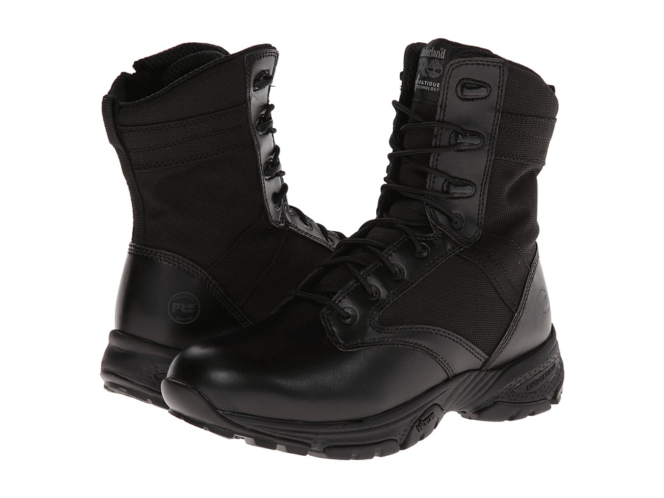Timberland PRO - 8 Valor Side Zip (Black) Men's Zip Boots