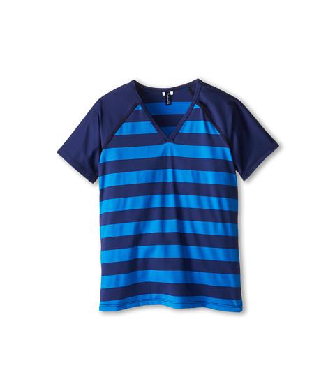 Splendid Littles - Marcel Stripe Surf Shirt (Big Kid) (Navy/Blue) Girl's Swimwear