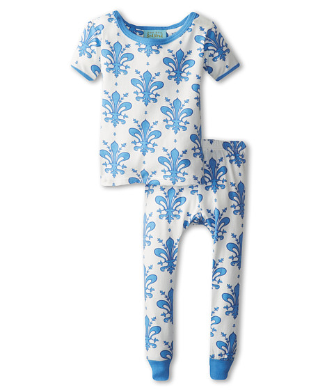 BedHead Kids - Short Sleeve Tee Pant Set (Infant) (Delf Fleur) Girl