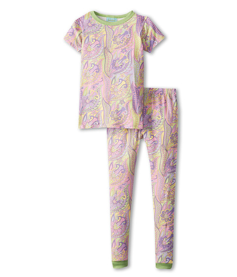BedHead Kids - Short Sleeve Tween Snug PJ (Big Kids) (Sgt. Pepper Lilac) Girl's Pajama Sets
