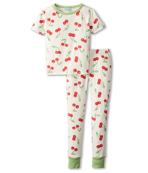 BedHead Kids - Short Sleeve Tween Snug PJ (Big Kids) (Cherry Ivory Pick) Girl's Pajama Sets