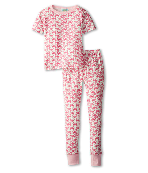 BedHead Kids - Short Sleeve Tween Snug PJ (Big Kids) (Pink Flamingo) Girl