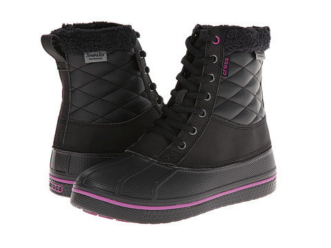 Crocs - All Cast Waterproof Duck Boot (Black/Viola) Women