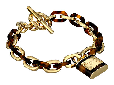 Michael Kors - Tortoise Status Link Toggle Bracelet (Tortoise/Gold) Bracelet