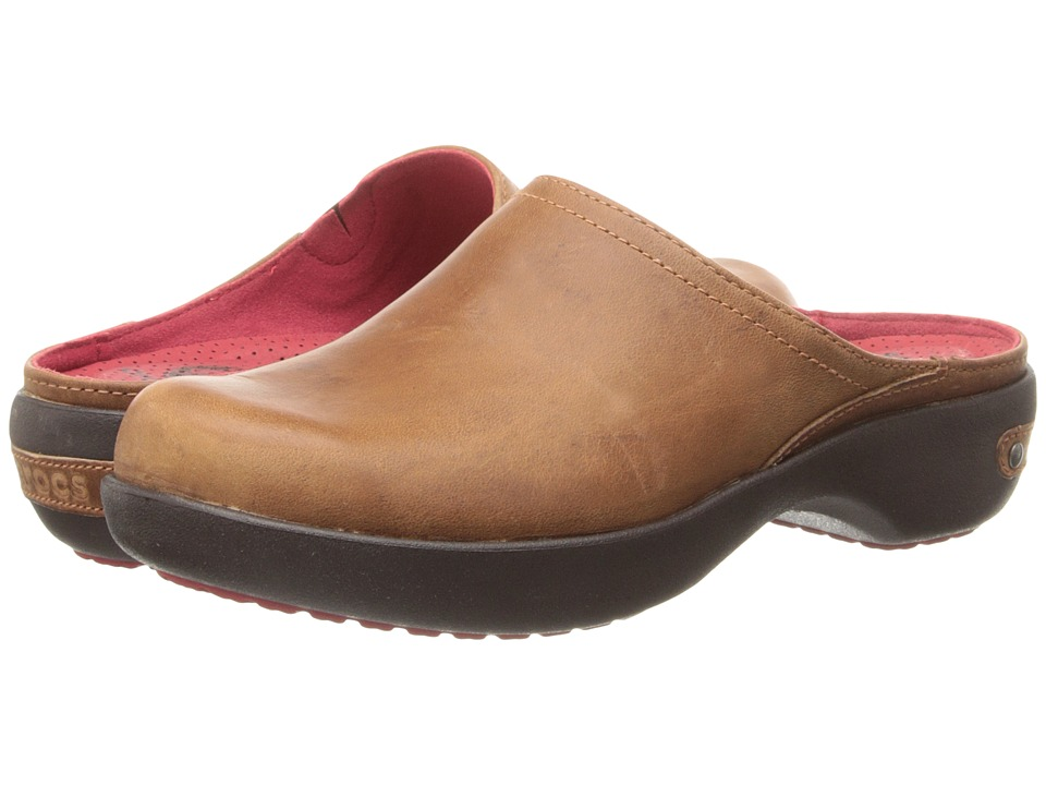 Crocs - Cobbler 2.0 Leather Clog (Cinnamon/Mahogany) Women's Clog Shoes