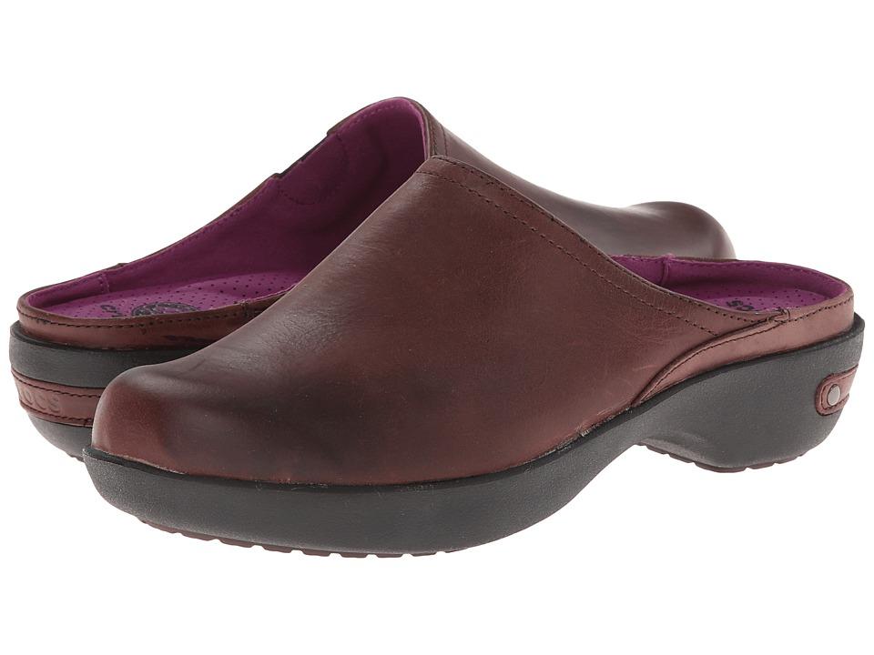 Crocs - Cobbler 2.0 Leather Clog (Mahogany/Black) Women