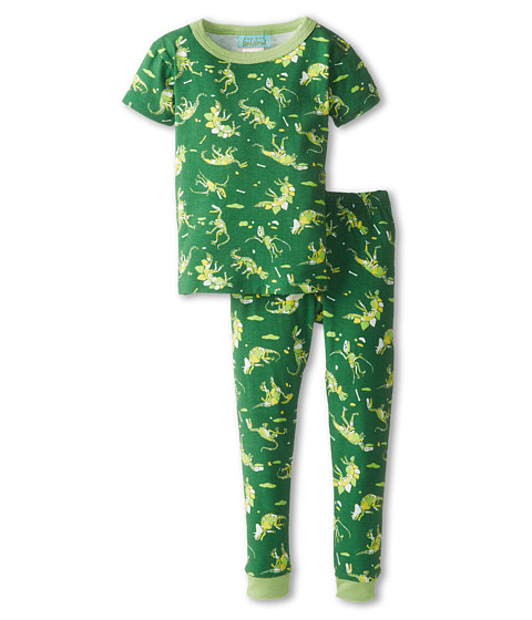 BedHead Kids - Short Sleeve Kids Snug PJ (Toddler/Little Kids) (Neon Dinosaur) Boy's Pajama Sets