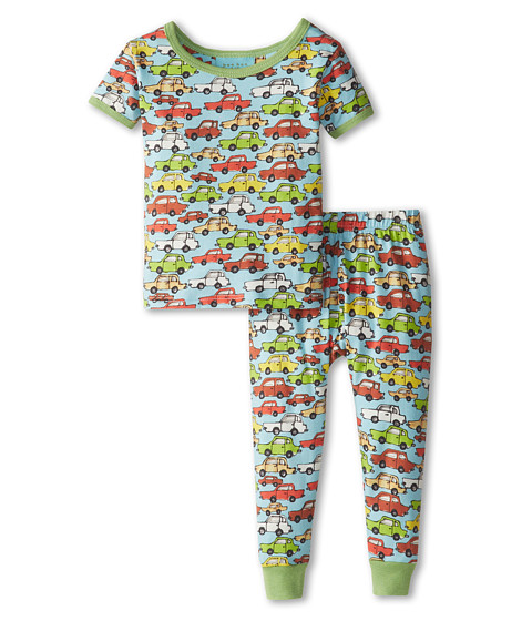 BedHead Kids - Short Sleeve Tee Pant Set (Infant) (Hot Wheels Blue) Boy's Pajama Sets