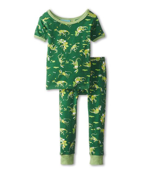 BedHead Kids - Short Sleeve Tee Pant Set (Infant) (Neon Dinosaur) Boy