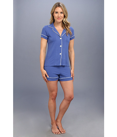 BedHead - Shorty PJ Set (Harbor Blue Solid) Women's Pajama Sets