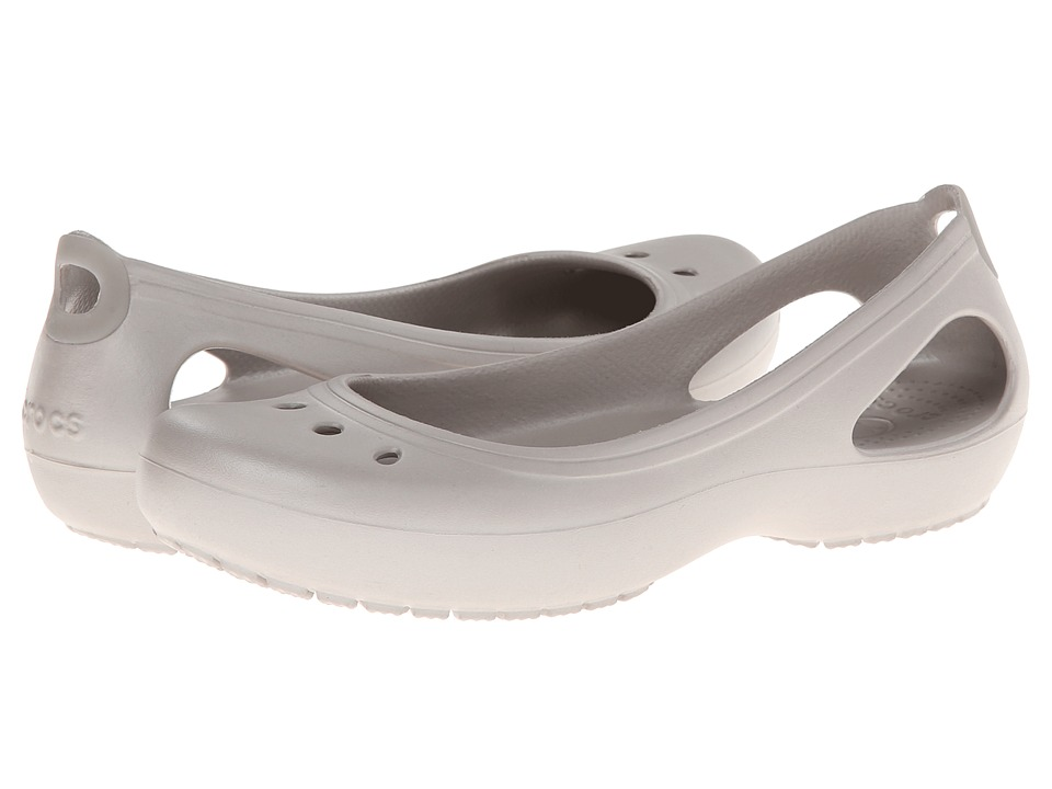 Crocs - Kadee (Platinum/Platinum) Women's Slip on Shoes
